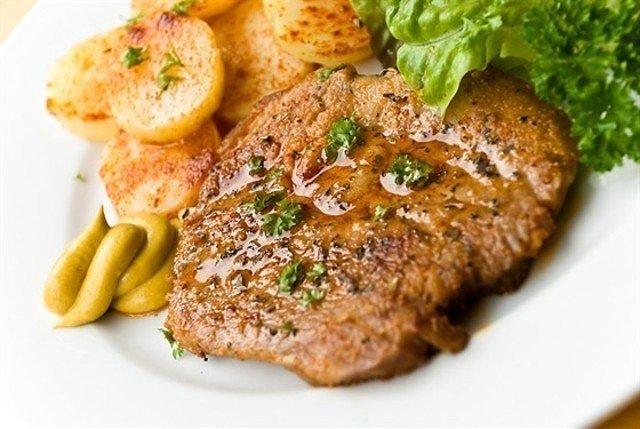 Мясо жареное с горчицей рецепт с фото
