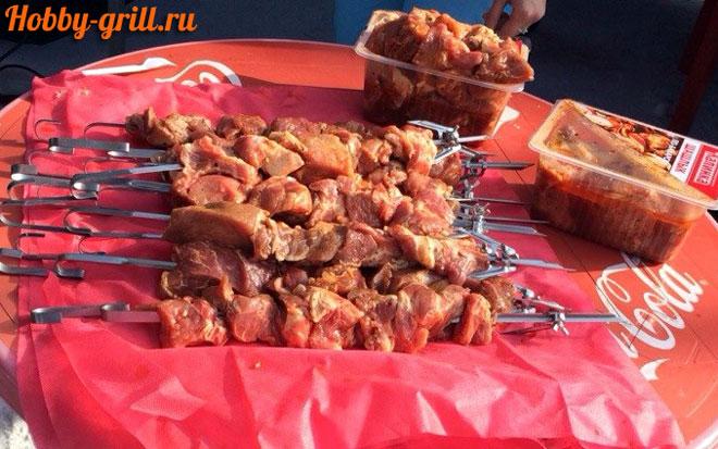 Мясо для шашлыка из тандыра